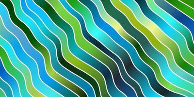 lichtblauw, groen vector sjabloon met wrange lijnen.