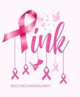 borstkanker bewustzijn concept vector