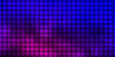 lichtblauwe, rode vectorachtergrond met cirkels.