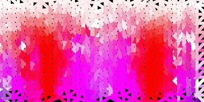 lichtpaarse, roze vector driehoek mozaïek achtergrond.