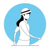 jonge vrouw avatar karakter