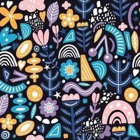 collage stijl naadloze patroon