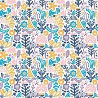 collage stijl naadloos herhaal patroon