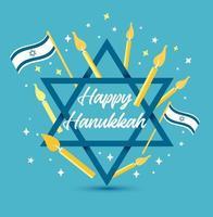 vectorillustratie voor joodse feestdag Chanoeka