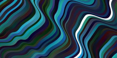 donkerblauw vectorpatroon met lijnen.