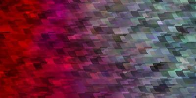 lichtblauwe, rode vectorachtergrond met rechthoeken.