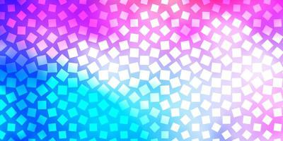 lichtblauw, rood vectorpatroon in vierkante stijl.