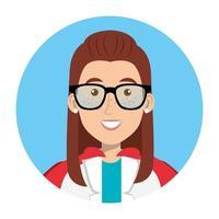 vrouwelijke arts als een superheldin