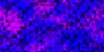 lichtpaars vectorpatroon met lijnen, driehoeken. vector