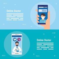 online medicijnposters instellen vector