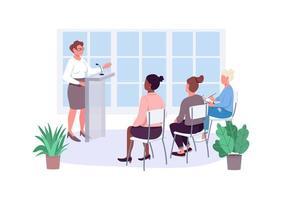 vrouwen empowerment cursussen egale kleur vector gezichtsloze tekens