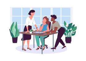 vrouwen vriendschap egale kleur vector anonieme tekens