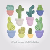 Vector Hand getrokken Cactussen Set