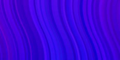 lichtroze, blauwe vectorachtergrond met krommen.