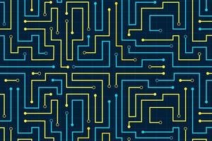 lijn circuit abstracte patroon technische achtergrond vector