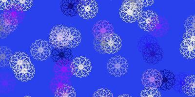 lichtpaarse vector natuurlijke lay-out met bloemen.