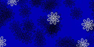 lichtblauwe vector natuurlijke achtergrond met bloemen.