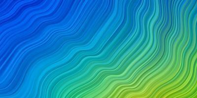 lichtblauwe, groene vectorachtergrond met cirkelboog. vector