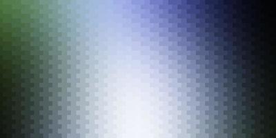 lichtblauw, groen vector sjabloon in rechthoeken.