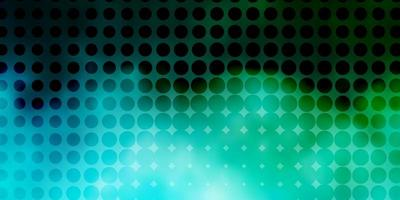 lichtblauwe, groene vectorlay-out met cirkelvormen.