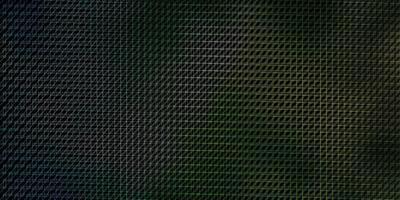 donkerblauwe, groene vectorachtergrond met lijnen.