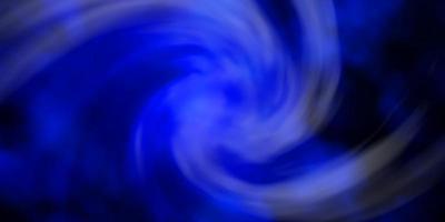 donkerblauwe vectorachtergrond met cumulus. vector