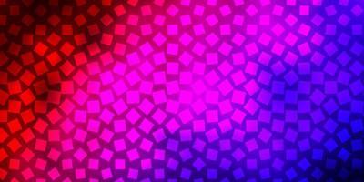 donkerblauwe, rode vectorachtergrond met rechthoeken.