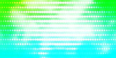 lichtblauwe, groene vectortextuur met cirkels.