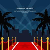 Hollywood rode loper vectorillustratie vector