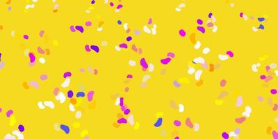lichtblauw, geel vectorpatroon met abstracte vormen.