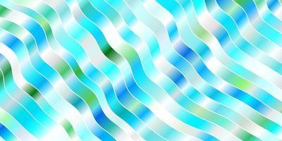 lichtblauw, groen vectorpatroon met wrange lijnen.