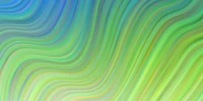 lichtblauwe, groene vectortextuur met cirkelboog. vector