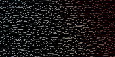 donkerblauwe, rode vectortextuur met wrange lijnen.