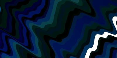 lichtblauwe, groene vectorachtergrond met wrange lijnen. vector