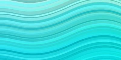 lichtblauwe, groene vectorachtergrond met gebogen lijnen.