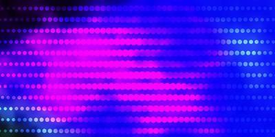 donkere veelkleurige vector sjabloon met cirkels.