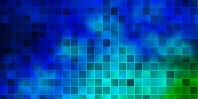 lichtblauwe, groene vectorachtergrond met rechthoeken.