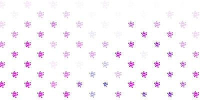lichtroze, blauwe vectorachtergrond met virussymbolen.