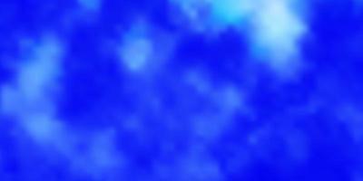 lichtblauwe vectortextuur met bewolkte hemel.