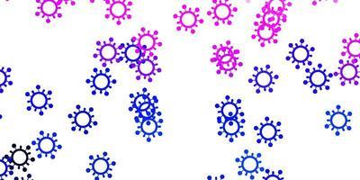 lichtroze, blauwe vectortextuur met ziektesymbolen
