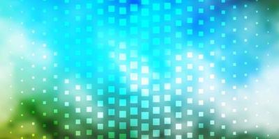 lichtblauwe, groene vectortextuur in rechthoekige stijl. vector