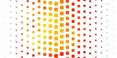 lichtrode, gele vectorlay-out met lijnen, rechthoeken.