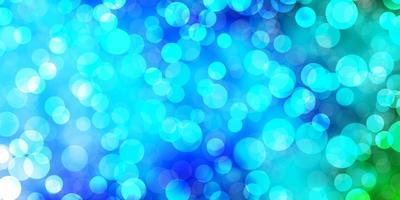 lichtblauw, groen vector sjabloon met cirkels.
