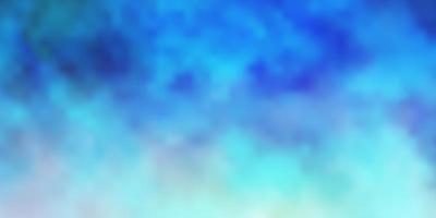 lichtblauwe vectortextuur met bewolkte hemel. vector