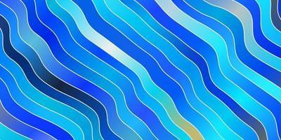 lichtblauwe vectortextuur met wrange lijnen.