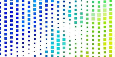 lichtblauwe, groene vectorachtergrond met rechthoeken. vector