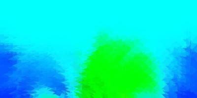 lichtblauw, groen vector veelhoekig patroon.