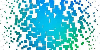 lichtblauwe, groene vectortextuur in rechthoekige stijl.