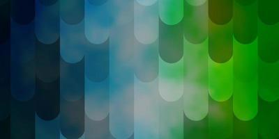 lichtblauw, groen vectorpatroon met lijnen.