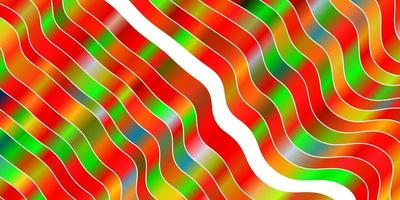 licht veelkleurige vector achtergrond met gebogen lijnen.